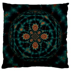 Abstract Digital Geometric Pattern Large Flano Cushion Case (one Side) by Samandel