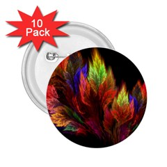 Abstract Digital Art Fractal 2 25  Buttons (10 Pack)  by Samandel