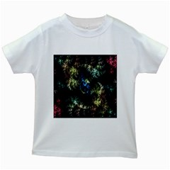 Abstract Digital Art Fractal Kids White T Shirts