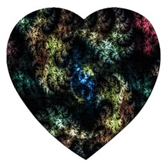 Abstract Digital Art Fractal Jigsaw Puzzle (heart) by Samandel