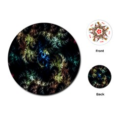 Abstract Digital Art Fractal Playing Cards (round)