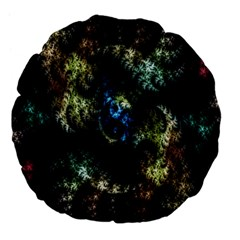 Abstract Digital Art Fractal Large 18  Premium Flano Round Cushions