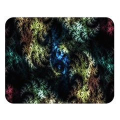 Abstract Digital Art Fractal Double Sided Flano Blanket (large)