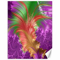Fractal Purple Green Orange Yellow Canvas 12  X 16