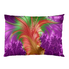 Fractal Purple Green Orange Yellow Pillow Case