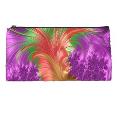 Fractal Purple Green Orange Yellow Pencil Cases