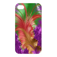 Fractal Purple Green Orange Yellow Apple Iphone 4/4s Hardshell Case