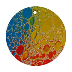 Bubbles Abstract Lights Yellow Ornament (round)