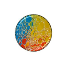 Bubbles Abstract Lights Yellow Hat Clip Ball Marker (10 Pack)