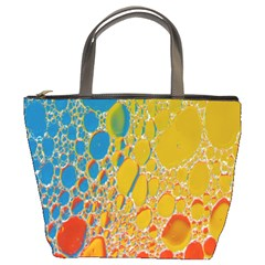 Bubbles Abstract Lights Yellow Bucket Bag