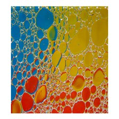 Bubbles Abstract Lights Yellow Shower Curtain 66  X 72  (large)