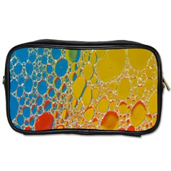 Bubbles Abstract Lights Yellow Toiletries Bag (one Side)