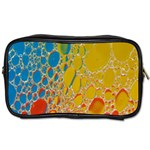 Bubbles Abstract Lights Yellow Toiletries Bag (One Side) Front