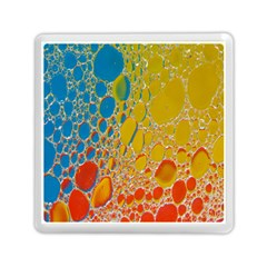 Bubbles Abstract Lights Yellow Memory Card Reader (square) by Samandel
