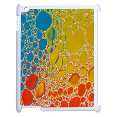 Bubbles Abstract Lights Yellow Apple Ipad 2 Case (white) by Samandel