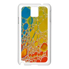 Bubbles Abstract Lights Yellow Samsung Galaxy Note 3 N9005 Case (white) by Samandel