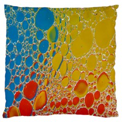Bubbles Abstract Lights Yellow Standard Flano Cushion Case (two Sides)