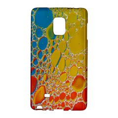 Bubbles Abstract Lights Yellow Samsung Galaxy Note Edge Hardshell Case by Samandel