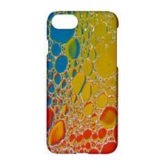 Bubbles Abstract Lights Yellow Apple Iphone 8 Hardshell Case by Samandel