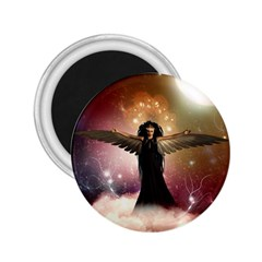 Awesome Dark Fairy In The Sky 2 25  Magnets by FantasyWorld7