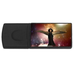 Awesome Dark Fairy In The Sky Rectangular Usb Flash Drive
