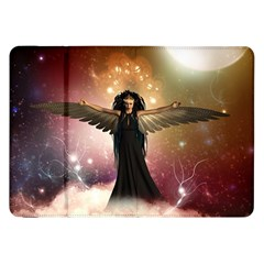Awesome Dark Fairy In The Sky Samsung Galaxy Tab 8 9  P7300 Flip Case by FantasyWorld7