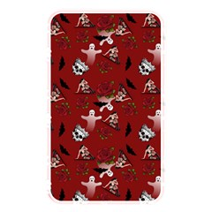 Gothic Woman Rose Bats Pattern Red Memory Card Reader (rectangular)