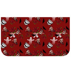 Gothic Woman Rose Bats Pattern Red Lunch Bag by snowwhitegirl
