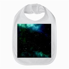 Galaxy Sky Blue Green Bib by snowwhitegirl