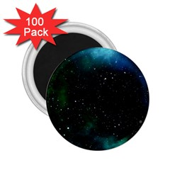 Galaxy Sky Blue Green 2 25  Magnets (100 Pack)  by snowwhitegirl