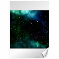 Galaxy Sky Blue Green Canvas 12  X 18  by snowwhitegirl