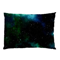 Galaxy Sky Blue Green Pillow Case by snowwhitegirl