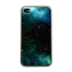 Galaxy Sky Blue Green Apple Iphone 4 Case (clear) by snowwhitegirl