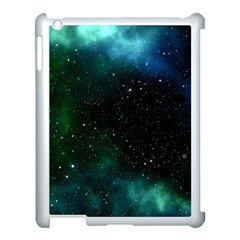 Galaxy Sky Blue Green Apple Ipad 3/4 Case (white) by snowwhitegirl