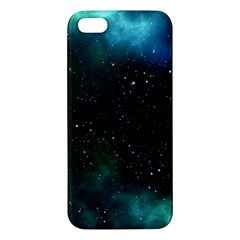 Galaxy Sky Blue Green Apple Iphone 5 Premium Hardshell Case by snowwhitegirl