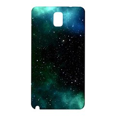 Galaxy Sky Blue Green Samsung Galaxy Note 3 N9005 Hardshell Back Case by snowwhitegirl