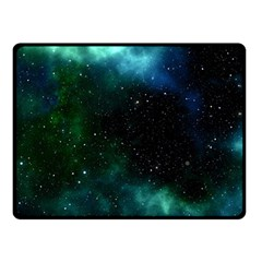 Galaxy Sky Blue Green Double Sided Fleece Blanket (small)  by snowwhitegirl