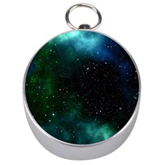 Galaxy Sky Blue Green Silver Compasses by snowwhitegirl