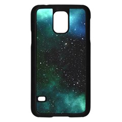 Galaxy Sky Blue Green Samsung Galaxy S5 Case (black) by snowwhitegirl