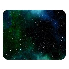 Galaxy Sky Blue Green Double Sided Flano Blanket (large)  by snowwhitegirl