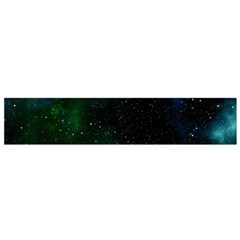 Galaxy Sky Blue Green Small Flano Scarf by snowwhitegirl
