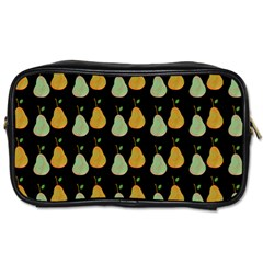 Pears Black Toiletries Bag (one Side) by snowwhitegirl