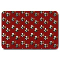 Panda With Bamboo Red Large Doormat