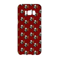Panda With Bamboo Red Samsung Galaxy S8 Hardshell Case  by snowwhitegirl