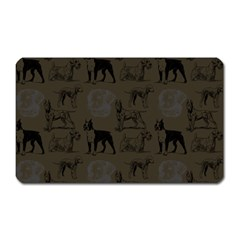 Dog Pattern Brown Magnet (rectangular) by snowwhitegirl