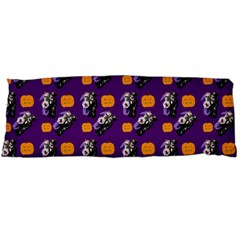 Halloween Skeleton Pumpkin Pattern Purple Body Pillow Case Dakimakura (two Sides)