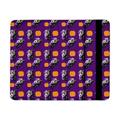 Halloween Skeleton Pumpkin Pattern Purple Samsung Galaxy Tab Pro 8 4  Flip Case by snowwhitegirl