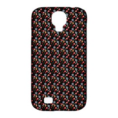 Vintage Floral Black Samsung Galaxy S4 Classic Hardshell Case (pc+silicone) by snowwhitegirl