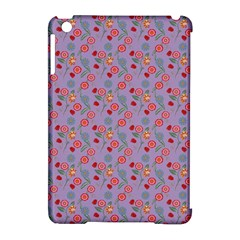 Vintage Floral Lilac Apple Ipad Mini Hardshell Case (compatible With Smart Cover) by snowwhitegirl