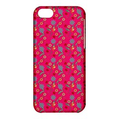Vintage Floral Pink Apple Iphone 5c Hardshell Case by snowwhitegirl